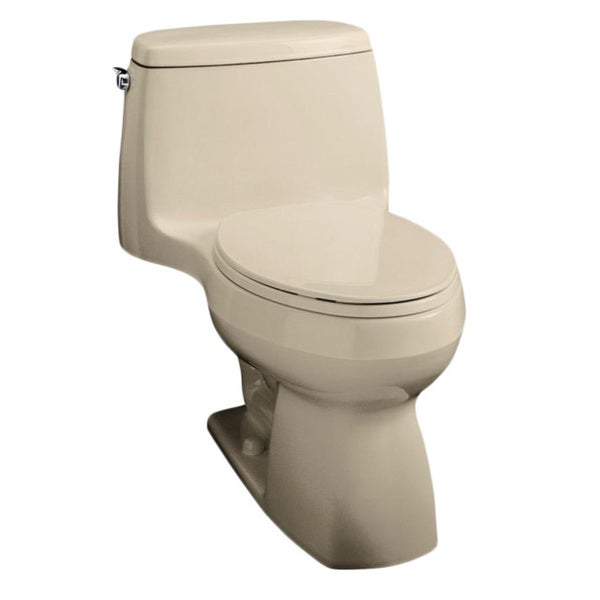 Kohler Santa Rosa >> Kohler Santa Rosa Comfort Height 1-piece 1.28 GPF Sandbar Compact Elongated Toilet - Free ...
