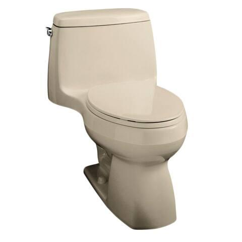 Kohler Santa Rosa Comfort Height 1-piece 1.28 GPF Sandbar Compact Elongated Toilet