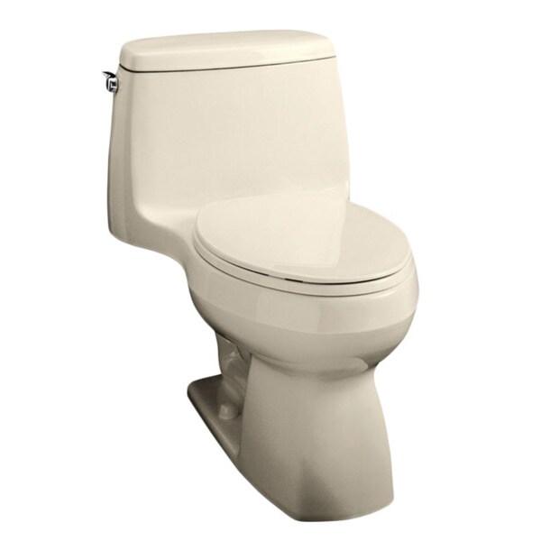 Kohler K 3810 Santa Rosa Comfort Height One Piece Compact Elongated 1 28 Gpf Toilet