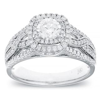 Azaro 14k White Gold 1ct TDW Vintage Diamond Ring