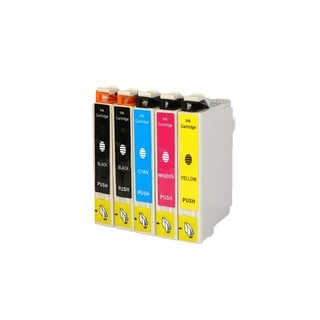 Epson T044 T044120 T044220 T044320 T044420 Ink Cartridge Set (Pack of 5 :2K/1C/1M/1Y) (Remanufactured)