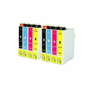 Epson T044 T044120 T044220 T044320 T044420 Ink Cartridge Set (Pack Of 8 :2K/2C/2M/2Y) (Remanufactured)