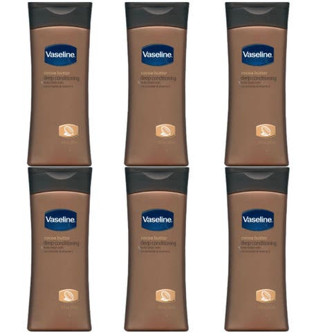 Vaseline Intensive Care Cocoa Butter 10-ounce Deep Conditioning Rich Hydrating Lotion (Pack of 6) - White