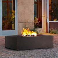 Baltic Kodiak Brown Rectangle LP Fire Table by Real Flame