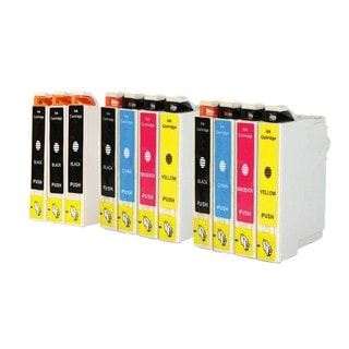 Epson T044 T044120 T044220 T044320 T044420 Ink Cartridge Set (Pack of 11 :5K/2C/2M/2Y) (Remanufactured)