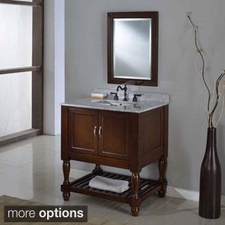Direct Vanity 32-inch Dark Brown Mission Turnleg Spa Single Vanity Sink Cabinet