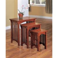 Coaster Company 3-piece Oak-finish Nesting Table Set - Oak