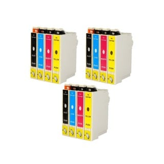 Epson T044 T044120 T044220 T044320 T044420 Ink Cartridge Set (Pack of 12 :3K/3C/3M/3Y) (Remanufactured)