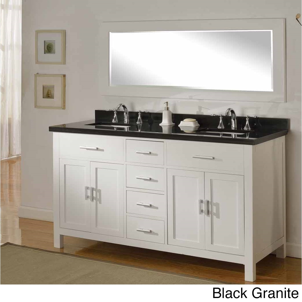 Direct Vanity Sink 63 Inch Sutton Pearl White Double Bathroom Vanity Sink Console Set Overstock 8931237