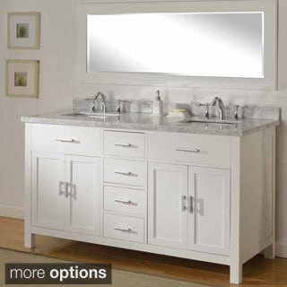 Exceptional Direct Vanity Sink 63 Inch Hutton Pearl White Double Bathroom Vanity Sink  Console Set