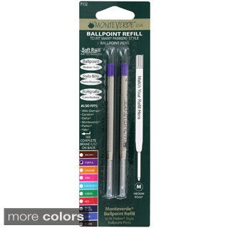 Monteverde Stick Refill for Parker Ball Point Pens (Pack of 2)