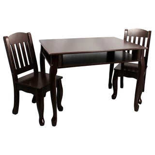 Teamson Windsor Collection Kids Espresso Rectangular Table and Chair Set