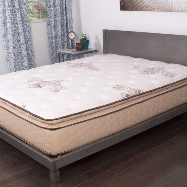 Nuform quilted pillow top 11 inch twin size plush foam mattress 16146353 Best deal on twin mattress