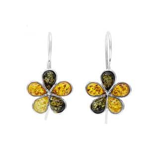Sterling Silver Amber Flower Earrings https://ak1.ostkcdn.com/images/products/8931327/Sterling-Silver-Amber-Flower-Earrings-P16146365.jpg?impolicy=medium
