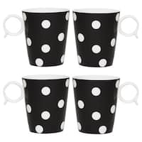 Freshness Mix & Match Dots Black 12-ounce Mug Set