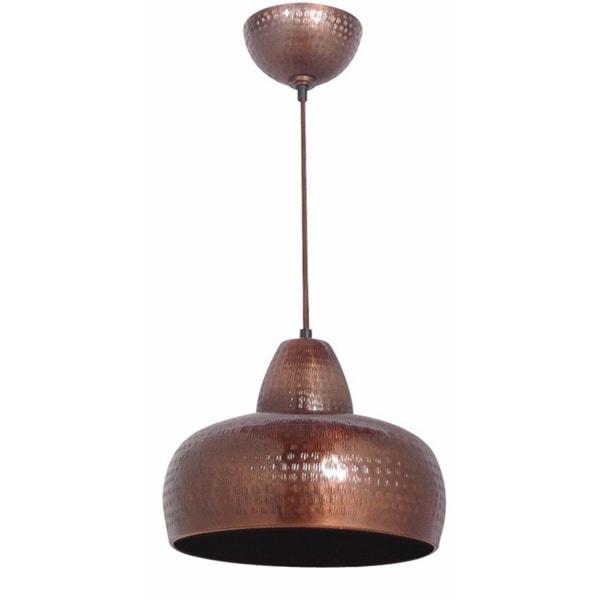 Macomb Antique Copper Hammered 1-light Pendant