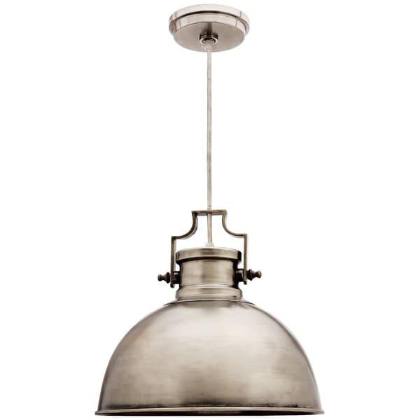 Camden Antique Nickel 1-light Dome Pendant
