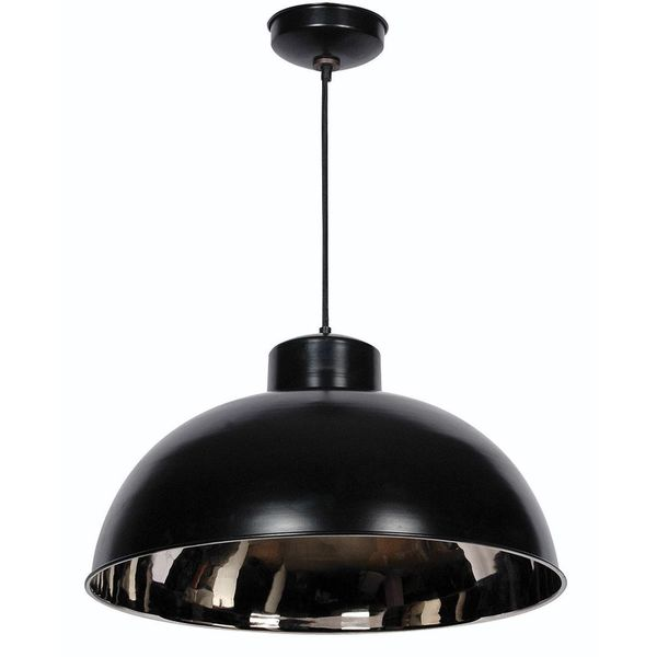Baltic Black and Nickel 1-light Dome Pendant
