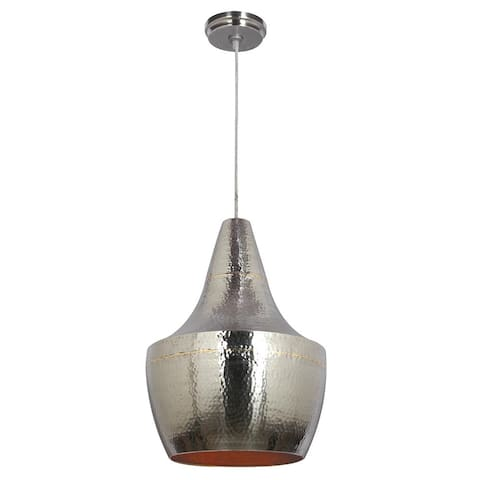 Pittsfield Hammered Nickel and Brass 1-light Pendant