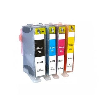 Remanufactured For HP 564XL Ink Cartridge (Pack Of 4 :1K/1C/1M/1Y)