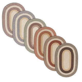Breckenridge Multicolor Indoor/ Outdoor Braided Reversible Rug USA MADE by Colonial Mills (3' x 5' Oval) - 3' x 5'