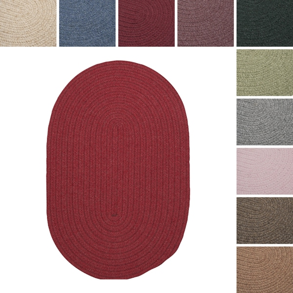 Charleston Wool-blend Textured Solid Reversible Braided Rug