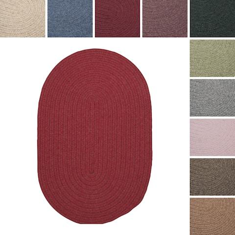 Charleston Wool-blend Textured Solid Reversible Braided Rug