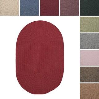 Charleston Wool-blend Textured Solid Reversible Braided Rug (3' x 5')