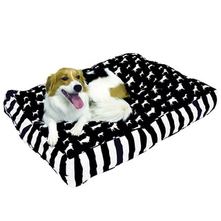 Buster Black and White Dog Bed