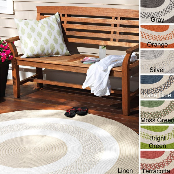 Hampton Fade Resistant Indoor Outdoor Braided Reversible Rug Usa Made 8 X27