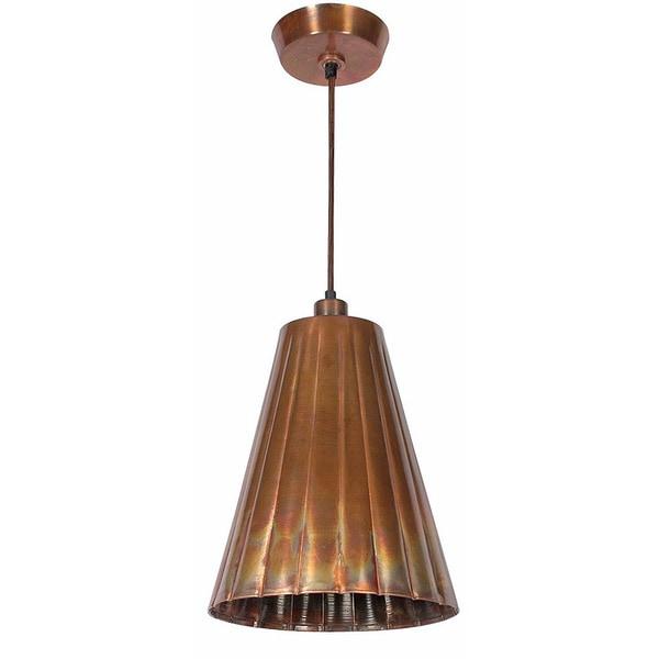 Lillie 1-light Flamed Copper Pendant