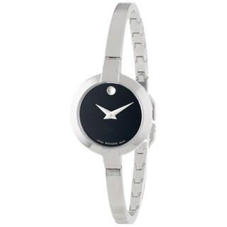 Movado Women's 0606595 Bela Stainless Steel Black Dial Watch