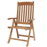 Havenside Home Tottenville Teak Multi-position Chair