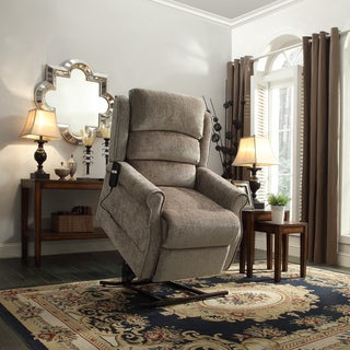 TRIBECCA HOME Hamish Tan Chenille Power Lift Recliner Chair