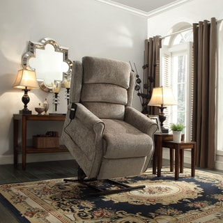 Hamish Tan Chenille Power Lift Recliner Chair by TRIBECCA HOME