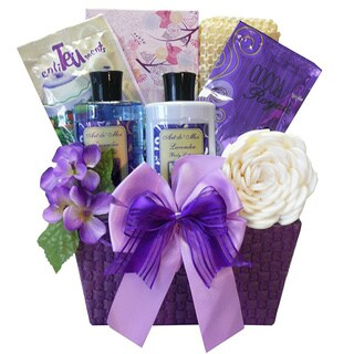Art of Appreciation Tranquil Delights Lavender Spa Bath and Body Basket
