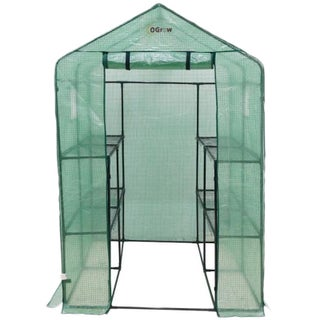 Ogrow Heavy Duty Walk-in Two-tier Portable Lawn and Garden Greenhouse (2 options available)