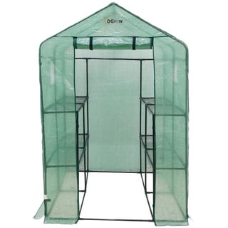 Ogrow Heavy Duty Walk-in Two-tier Portable Lawn and Garden Greenhouse