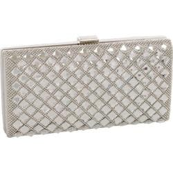 Women's J. Furmani 50377 Elegant Stone Hardcase Clutch Silver