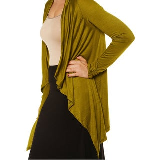 24/7 Comfort Apparel Women's Long-sleeve Asymmetrical Shrug