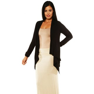 24/7 Comfort Apparel Women's Long-sleeve Asymmetrical Shrug