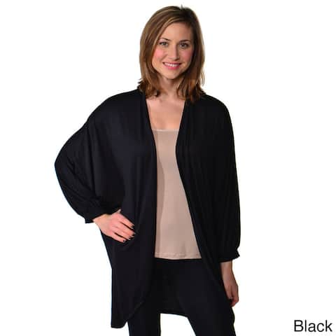 24/7 Comfort Apparel Women's Dolman Sleeve Oversized Circle Shrug