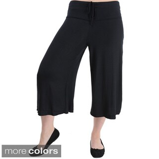 24/7 Comfort Apparel Women's Knee-length Gaucho Pants