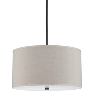 Dayna 4-light Burnt Sienna/ Grey Linen Pendant