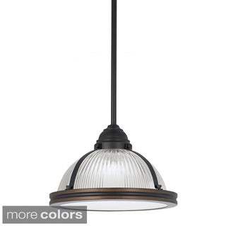 Pratt Street 1-light Prismatic Fluorescent Pendant