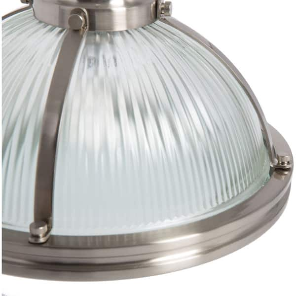 Light Prismatic Brushed Nickel Pendant