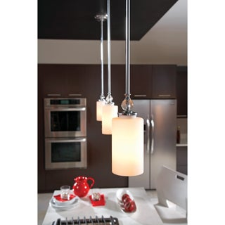 Englehorn 1-light Chrome/ Etched Glass Mini-pendant
