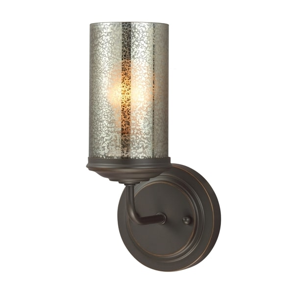 Sfera 1 Light Autumn Bronze Mercury Glass Wall Bath Sconce Free Shipping Today Overstock