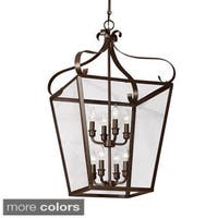 Lockheart 8-light Clear Glass Shade Hall/ Foyer Lantern