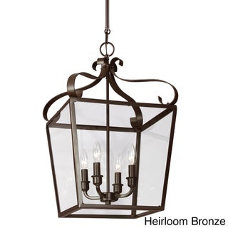 Lockheart 4-light Clear Glass Shade Hall/ Foyer Lantern